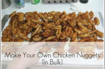 Make Your Own Chicken Nuggets {in bulk}