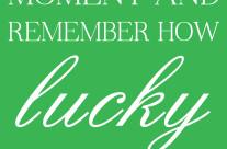 Lucky {free printable}