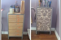 IKEA Office Drawer Makeover {Mod Podge}