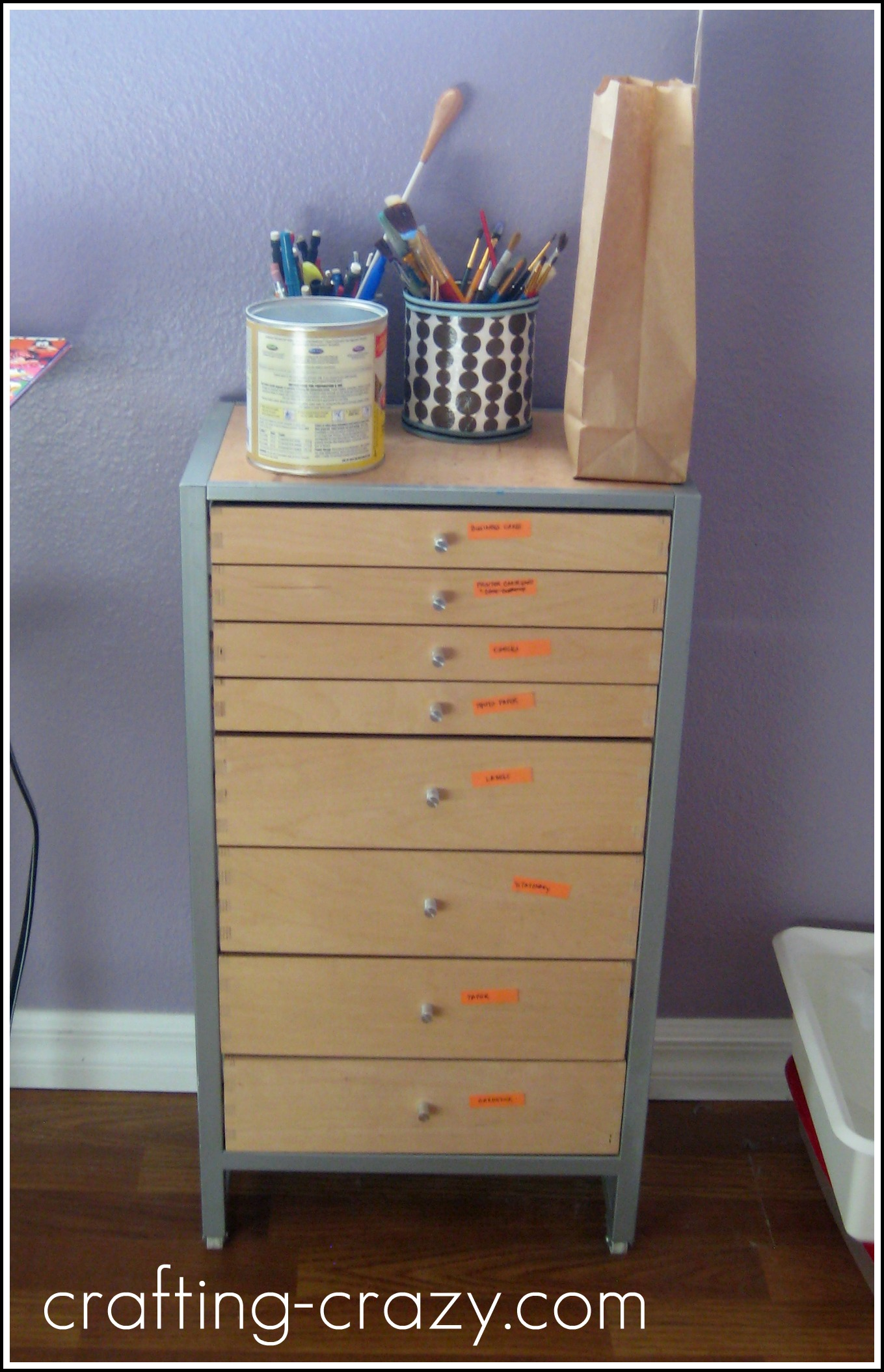 ikea office drawer makeover mod podge natalie chiles